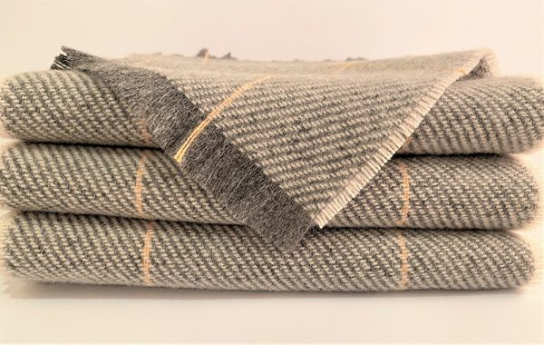 Cushendale Lambswool Country Scarf - Grey - Beautiful Things Textiles