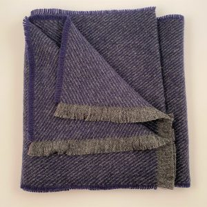 Cushendale Lambswool Hunter Scarf - Blue - Beautiful Things Textiles