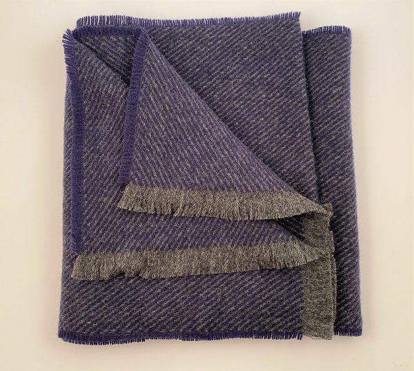 Cushendale Lambswool Hunter Scarf - Blue - Beautiful Things Textiles