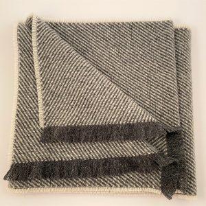Cushendale Lambswool Hunter Scarf - Grey - Beautiful Things Textiles