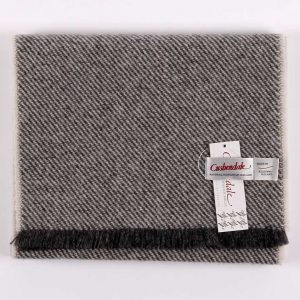 Cushendale Lambswool Hunter Scarf - Grey - Beautiful Things Textiles